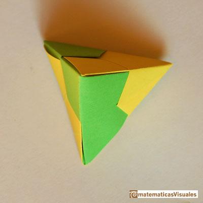 Поделки из бумаги тетраэдр оригами 48
