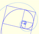 The golden rectangle and two equiangular spirals