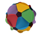 Resources: Building polyhedra gluing discs  | matematicas visuales