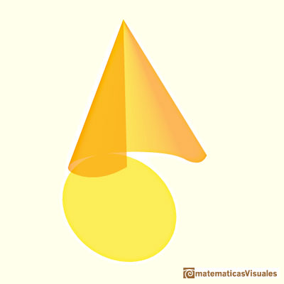 Cones and Conical frustums: a cone developing | matematicasVisuales