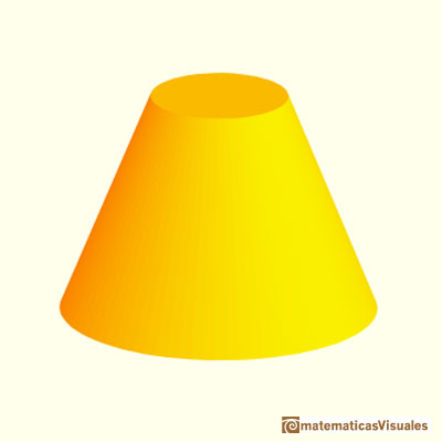 Cones and Conical frustums: a conical frustum | matematicasVisuales