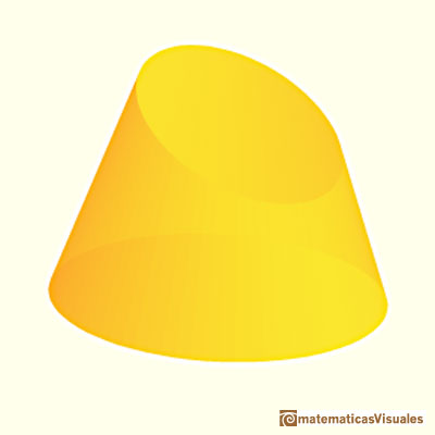 Truncated cone: an example | matematicasVisuales