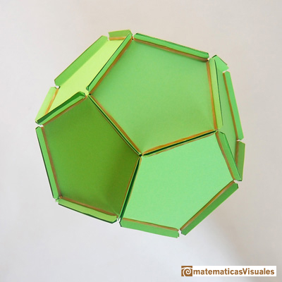 Dodecahedron Plane Net Of A With Rubber Bands And Paper