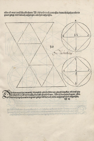 Octahedron plane net: plane net of an octahedron by Durer | matematicasVisuales