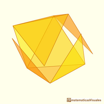 Octahedron plane net: developing octahedron | matematicasVisuales