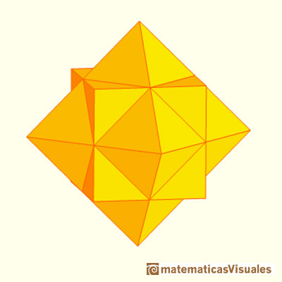 Octahedron plane net: cube and octahedron in reciprocal position. Stellation of an cuboctahedron | matematicasVisuales