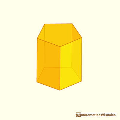 Prisms and their nets: a pentagonal prism | matematicasVisuales