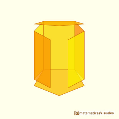 Prisms and their nets: developing a pentagonal prism | matematicasVisuales
