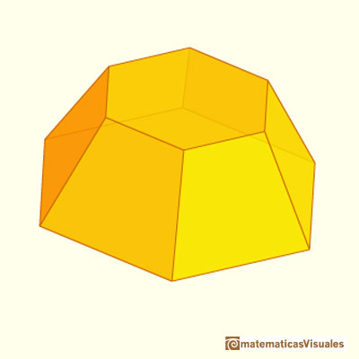 Pyramid and Pyramidal frustum: hexagonal frustum | matematicasVisuales