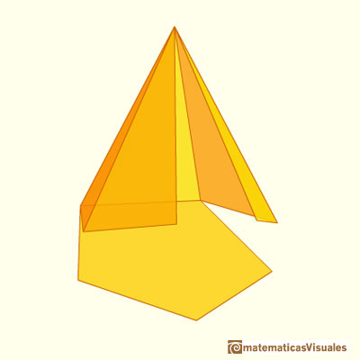 Pyramid and Pyramidal frustum: a pyramid developing| matematicasVisuales