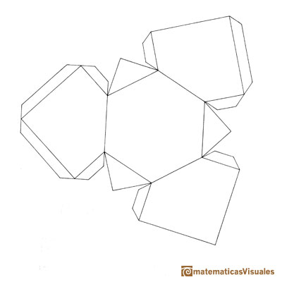Resources How To Build Polyhedra With Cardboard Plane Nets Download Print Template Of A Half Cube