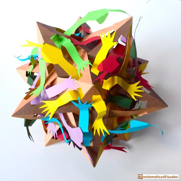 Construcción de poliedros | Pequeño dodecaedro estrellado | Escher | matematicasVisuales