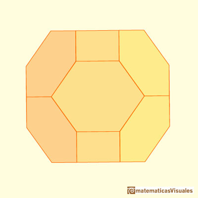 Chamfered cube: hexagons in a chamfered cube are not equiangular | matematicasVisuales