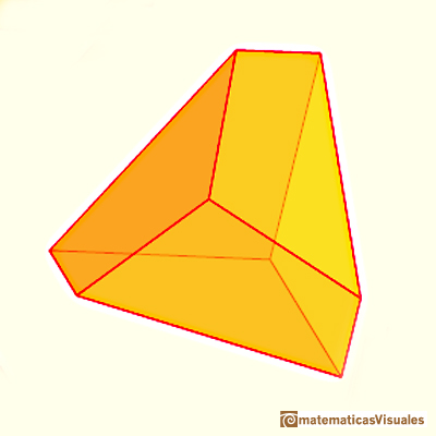 Dodecahedron: the volume of a dodecahedron of side length 1 is one eighth the volume of a dodecahedron of side length 2 | matematicasVisuales