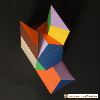 Dodecahedron and cube: building | matematicasVisuales