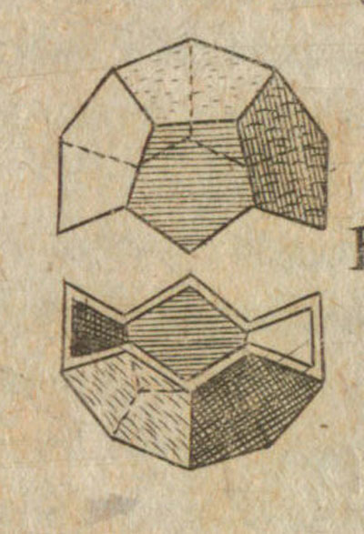 Dodecahedron: Kepler drawing of a dodecahedron in 'Hamonices Mundi - The Harmony of the World' | matematicasVisuales