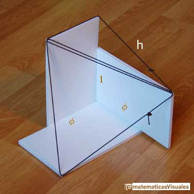 icosahedron: three golden rectangles; are the triangles equilateral?, some calculations | matematicasVisuales