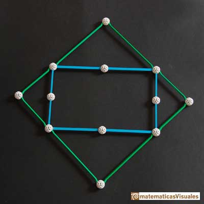 icosahedron: a square and a golden rectangle with zome | matematicasVisuales