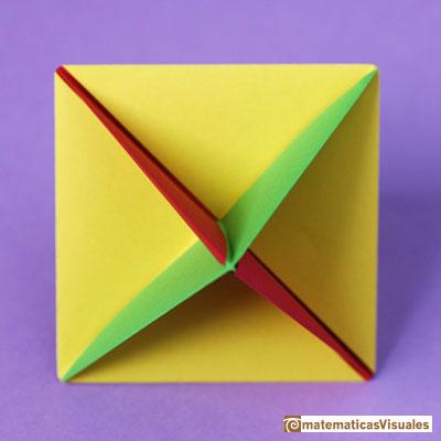 Modular Origami Octahedral Unit Folding Instructions   400x400