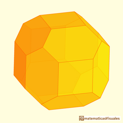 Chamfered cube: equilateral | matematicasVisuales
