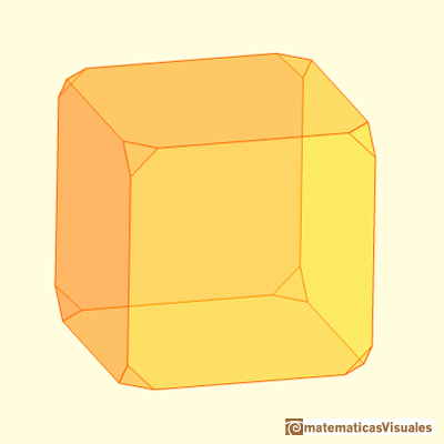 Truncating a cube, only a little | matematicasvisuales