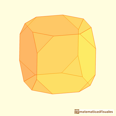 Truncating a cube, cube truncated | matematicasvisuales