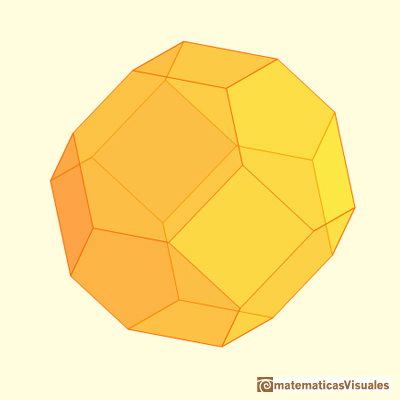 Truncating an octahedron: truncated octahedron | matematicasvisuales