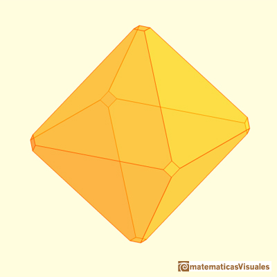 Truncating an octahedron, only a little | matematicasvisuales