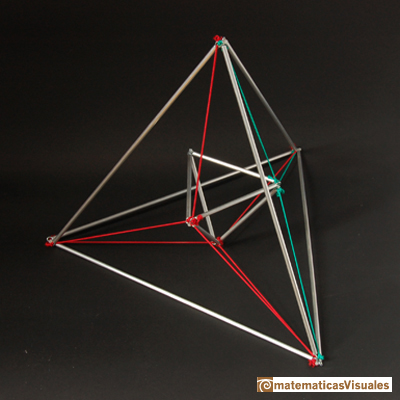 A tetrahedron is the dual polyhedron of another tetrahedron | matematicasvisuales