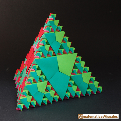 Volume of a octahedron origami, octahedra inside a tetrahedron | matematicasVisuales