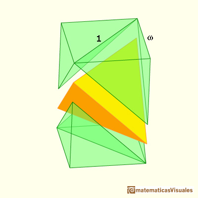 Volumen del tetraedro: the volume of the tetrahedron is one third of the cube that contains it | matematicasVisuales
