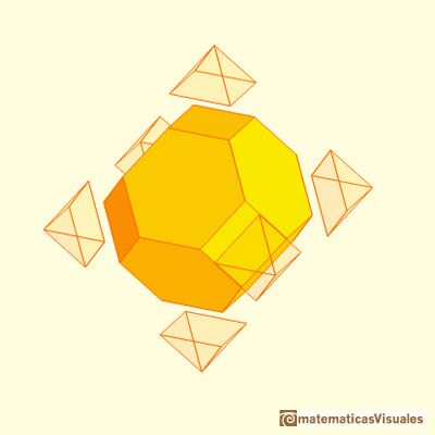 Truncated cube and octahedron: truncated octahedron | matematicasvisuales