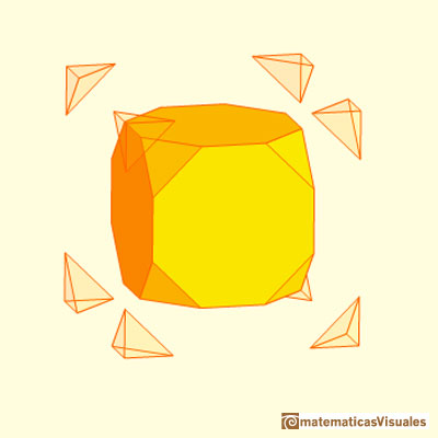 Truncated cube and octahedron: truncated cube | matematicasvisuales
