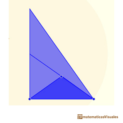 Archimedes, area of a parabolic segment | Two triangles to calculate the area of a parabolic segment | matematicasVisuales