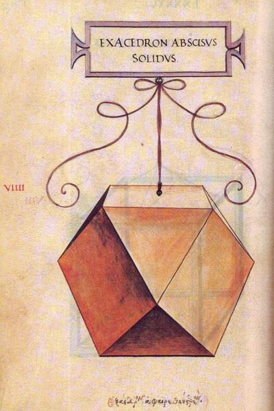 Leonardo da Vinci: cuboctaedro. Editorial Akal | matematicasvisuales