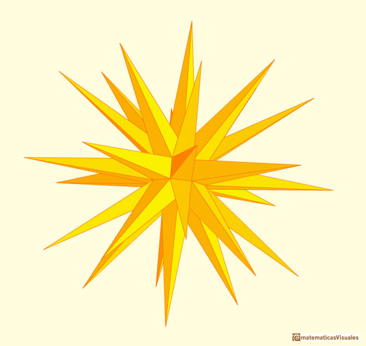 Augmented Rombicuboctahedron, moravian star | matematicasVisuales